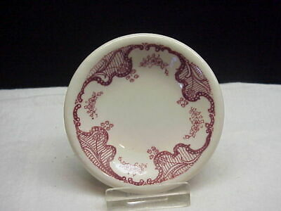 Vintage Tepco China Restaurant Ware Maroon Floral Pattern Butter Pat