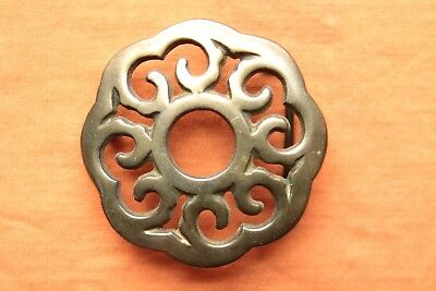 Vintage Solid Brass Cast Sun Flower Design Belt Buckle