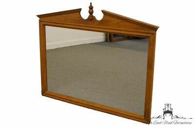 ETHAN ALLEN Heirloom Nutmeg Maple Pediment Top Wall / Dresser Mirror 10-5100