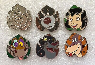 Disney Pin - DLR 2017 Hidden Mickey Jungle Book Characters - Complete Set of 6