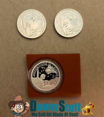 2019 PDS SACAGAWEA NATIVE AMERICAN The Space Program P D S PROOF Dollar 3 Coins