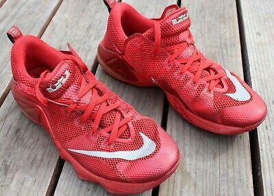 73e9962cb9f Nike Lebron Xii 12 Low University Red October Silver Black 724557-616 Size  13