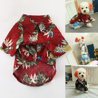 Cutest Hawaiian Shirt For Pet Dogs Cat Puppies Comfortable Clothing Pet Shows