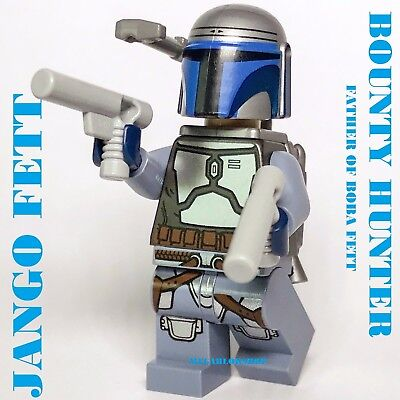 Lego Star Wars Minifigure Bounty Hunter Jango Fett w// Jetpack 75015