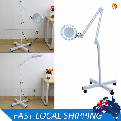 Magnifying Wheels Lamp Glass Lens Beauty Illuminated Light Magnifier Stand