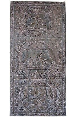 Vintage Wall RELIEF Panel Kamasutra Barn Door Head Board CARVED Bedroom Decor