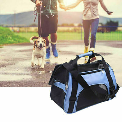 S/L Size Pet Carrier Soft Sided Cat Dog Comfort Travel Tote Bag Airline Approved