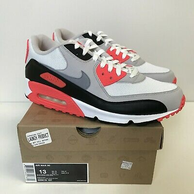 Nike Air Max 90 White Cement Grey Infrared Black 325018 107