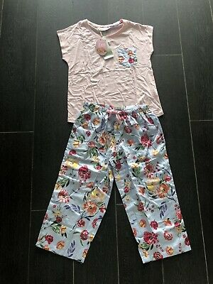 BNWT PETER ALEXANDER  Floral Ladies PJ set Top With 3/4 Pants, Size XL RRP$99.95