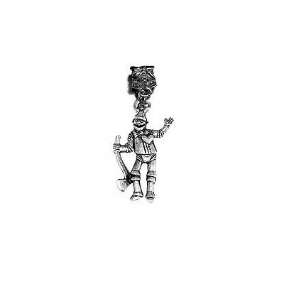 Charms & Charm Bracelets Jewellery & Watches Look Tin Man Wizard Of Oz Gold Plated Over Reals Sterling Silver Charm Pendant