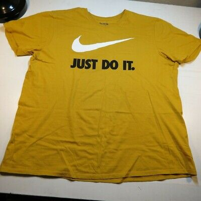 dbd6c14582a59 NIKE JUST DO IT Athletic Cut Gym TEE T SHIRT Sz Mens XXL / Cotton Yellow