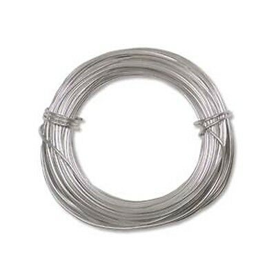 Anodized Aluminum Wire 18 Gauge 39 Ft Silver 41286 Round Shiny