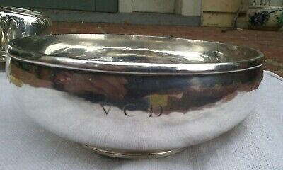Hand Wrought Arthur Stone Sterling Silver Bowl  David Carlson or Magnus Carlberg