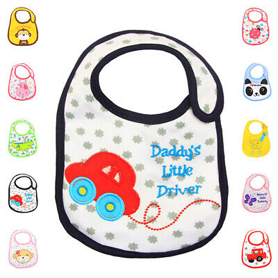 Cotton Apron Bibs Baby Bibs Boy Girl Toddler Infant Waterproof Saliva Feeding