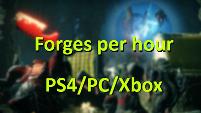 Destiny 2 Shadowkeep Forges Per Hour Ps4/PC/Xbox