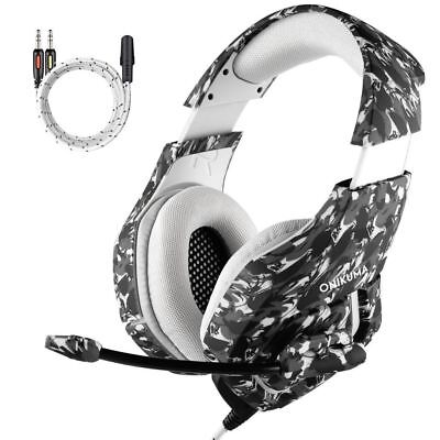 3.5mm Gaming Headset MIC Camouflage Headphones for PC Mac Laptop PS4 Xbox One UK