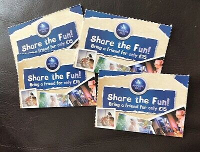 4 x Merlin Annual Pass SHARE THE FUN Bring a friend for only £15 VOUCHER TICKET.