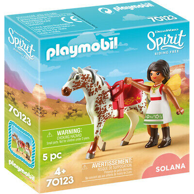 Playmobil 70123 Dreamworks Spriit Riding Free: Vaulting Solana Figure Pack
