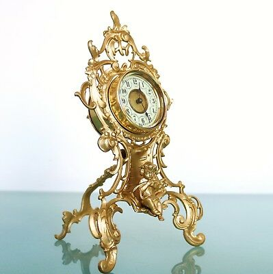 Antique German JUNGHANS Mantel Clock RESTORED ROCOCO BRONZE Case EXTREMELY RARE