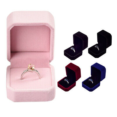 Fashion Ring Box Jewelry Display Storage Velvet Case Gift Organizer
