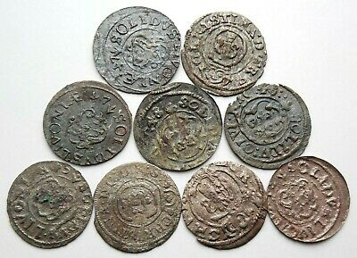 Lot Of 9 Medieval Hammered Silver Coins 16 Th Century Rare! #4
