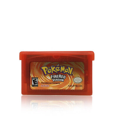 Pokemon Fire Red Version For Nintendo Game Boy Advance (FireRed GBA Cartridge)