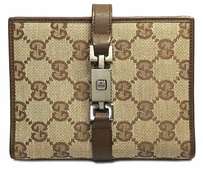 Authentic GUCCI note book cover system notebook GG canvas Jackie Brown