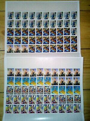 100 x 2nd CLASS POST 2012 STAMPS UNFRANKED OFF PAPER + GUM £61 FV 70p (130)