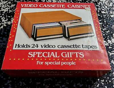 Video Cassette Cabinet Holds 24 VHS or Beta Video Cassettes New in the box