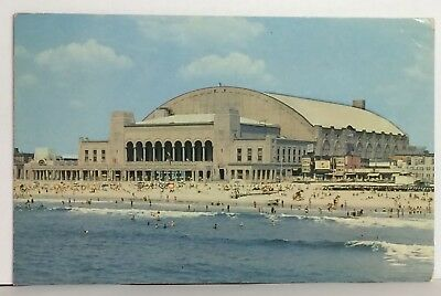 PostCard Convention Hall Atlantic City NJ Real Color Photo Posted 1956 Vitnage