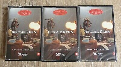 JEROME KERN Smoke Gets In Your Eyes 3 x Audio Cassettes 2 SEALED Readers Digest