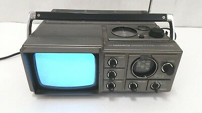 Magnavox Vintage Portable Analog TV Television & Radio Model - Model E60846