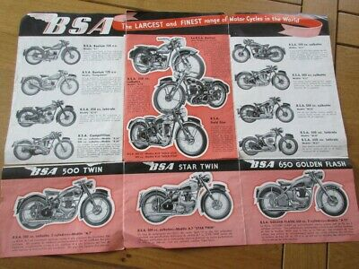 Catalogue Motos  Bsa Bantam Competition Gold Star 500 Twin Golden Flash 1952