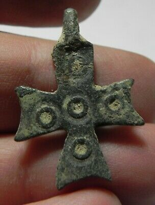 Zurqieh - As11695-  Ancient Byzantine Bronze Cross. 600 A.d - Jordan