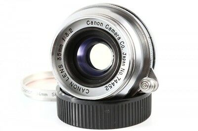 Canon 35mm F/3.2 Lens w/Filter Leica Screw Mount LTM L39 RF from Japan Exc+
