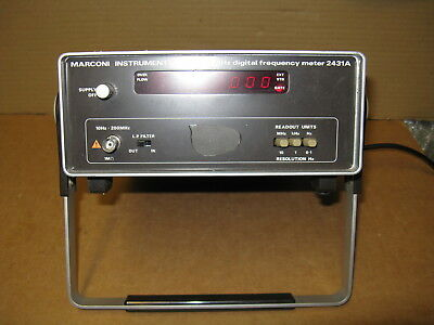 Marconi Instruments 200 MHz Digital Frequency Meter 2431A Model 52431-313D