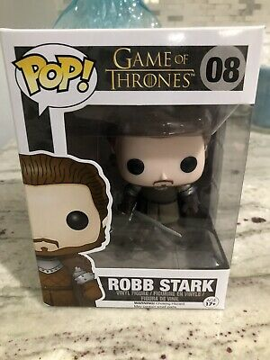 Funko Pop GAME OF THRONES RARE VAULTED ROBB STARK #8 With Pop Stack