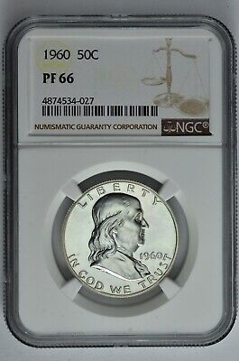 1960 50c Silver Proof Franklin Half Dollar NGC PF 66