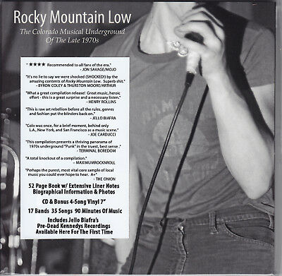 """V/A-Rocky Mountain Low 7""""+CD+BOOK - Expanded edition - KBD 70s-80s PUNK"""