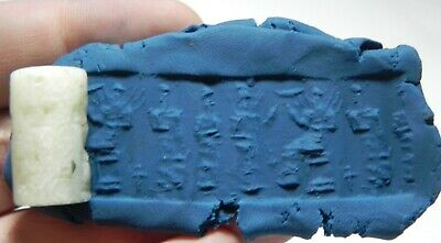 Zurqieh - As11705-  Ancient Holy Land. Stone Cylinder Seal. 800 - 500 B.c