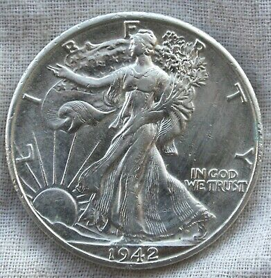 1942-D Walking Liberty Half Dollar   AU (or Better)   *FREE Shipping*