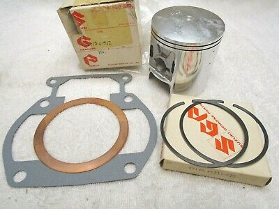 New NOS Suzuki RM370 .25mm 1st over piston & ring set RM 370 O/S oversize rings
