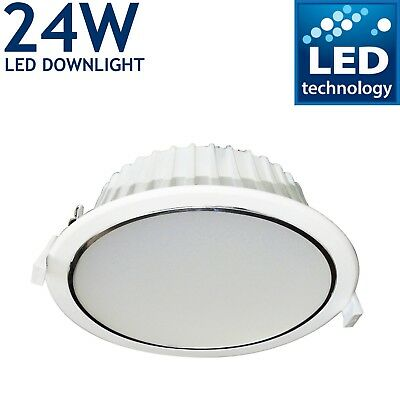 Led Recessed Ceiling Flat Lighting Panel Round Spotlights Shop Office Downlights