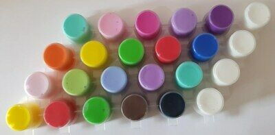 ACRYLIC PAINT STRIPS MIXED COLOURS Kids Arts Craft 5ml Pots x 2 BULK AVAILIBLE