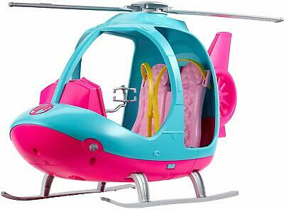Official Barbie Travel Helicopter Copter Spinning Rotor Toy Playset