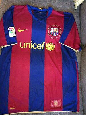 552fb889441 Classic Nike Fc Barcelona Home Shirt Xl Mens La Liga Camp Nou 1957-2007