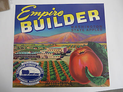 Blewett Pass Apple Label Cashmere Pioneer Growers Washington