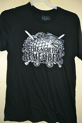 24cf8aa4b Game Of Thrones/the North Remembers-Mens Size Medium-Licensed Short Sleeve-