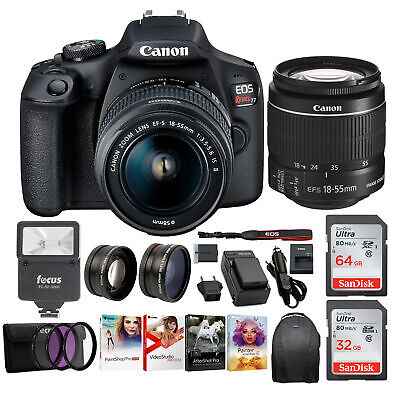 Canon T7 EOS Rebel DSLR Camera with EF-S 18-55mm IS II Lens Deluxe Bundle