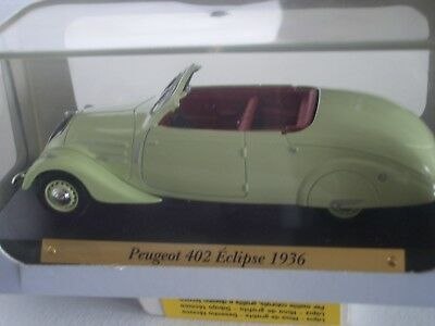 "Voiture D'exception Metal  1/43  "" Peugeot 402 Eclipse 1936 """